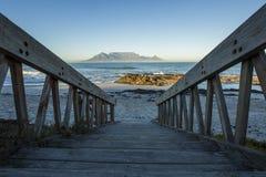 Montagna Sudafrica della Tabella immagini stock libere da diritti