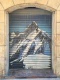 Montagna sulla porta Fotografia Stock Libera da Diritti