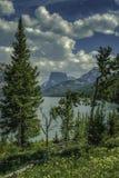 Montagna superiore quadrata e lago più basso green River immagini stock libere da diritti