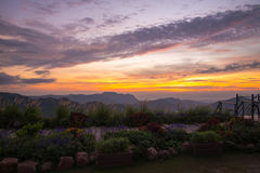Montagna Tailandia del paesaggio Fotografia Stock Libera da Diritti