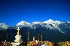 Montagna tibetana di pellegrinaggio Immagini Stock Libere da Diritti