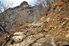 Montagna Trailhead del deserto Fotografia Stock Libera da Diritti