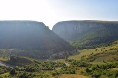 Montagna transsilvana, cresta, Turda fotografia stock