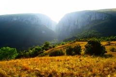 Montagna transsilvana, cresta, Turda immagine stock libera da diritti