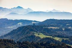 Montagna Uetliberg, Svizzera di Zurigo Fotografia Stock