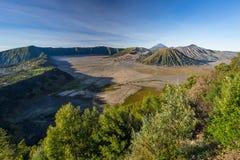 Montagna in una mattina, East Java, Indonesia del vulcano attivo di Bromo fotografia stock libera da diritti
