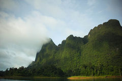 Montagna verde Fotografia Stock