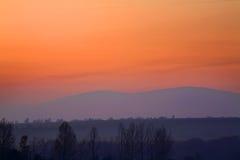 Montagna vicino alla città di Vitanova slovakia Fotografia Stock Libera da Diritti