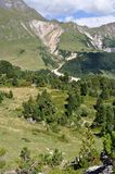 Montagna vicino a Aquacalda, Svizzera Fotografie Stock Libere da Diritti