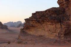Montagna in Wadi Rum, Giordania Fotografia Stock Libera da Diritti
