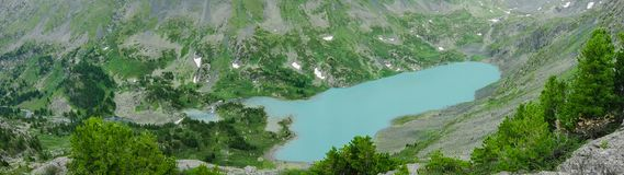 Montagna zero sul Altai Immagini Stock