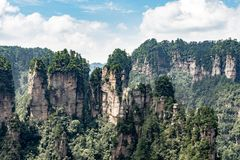 Montagna a Zhangjiajie fotografia stock libera da diritti
