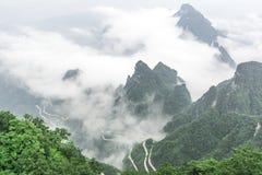 Montagna Zhangjiajie, Cina di Tianmen Fotografie Stock Libere da Diritti