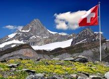 Montagna Zinalrothorn - alpi svizzere Fotografia Stock