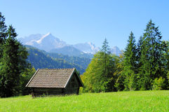 Montagna Zugspitze Fotografie Stock Libere da Diritti