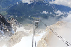 Montagna Zugspitze Immagine Stock