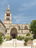 Montagnac (France), gothic church Stock Images