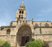 Montagnac (France), gothic church Royalty Free Stock Images