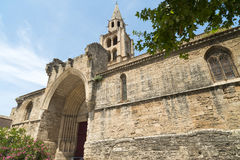 Montagnac (France), gothic church Royalty Free Stock Photography