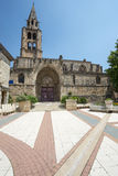 Montagnac, gothic church Stock Photography