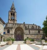 Montagnac, gothic church Stock Image