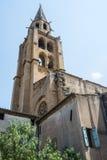 Montagnac, gothic church Royalty Free Stock Photos