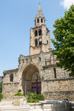 Montagnac, gothic church Stock Photo