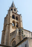 Montagnac, gothic church Stock Images
