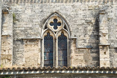 Montagnac, gothic church Royalty Free Stock Images