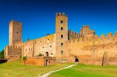 Montagnana, Италия: Огороженный средневековый городок Стоковые Изображения
