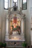 Montagnana, Italia - 6 agosto 2017: La cattedrale del presupposto di vergine Maria benedetto 1431 -1502 immagine stock libera da diritti