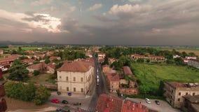 Montagnana, Italia - 24 de agosto de 2018: Vista panorámica de la fortaleza de la ciudad de la torre almacen de video