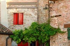 Montagnana, Italie, le 27 août 2018 : Intérieur d'hôtel dans le mur de forteresse photographie stock