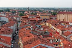 Free Montagnana, Italy - August 24, 2018: Panoramic View Of The City Fortress From The Tower. Royalty Free Stock Photography - 127371427