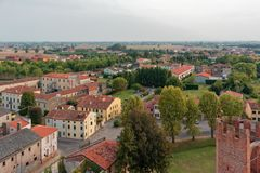 Free Montagnana, Italy - August 24, 2018: Panoramic View Of The City Fortress From The Tower. Royalty Free Stock Photo - 127371475