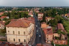 Free Montagnana, Italy - August 24, 2018: Panoramic View Of The City Fortress From The Tower. Royalty Free Stock Images - 127371499