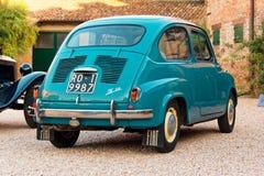 Montagnana, Italy August 27, 2018: Retro car Fiat 600 1955 release. Montagnana, Italy August 27, 2018 Retro car Fiat 600 1955 release stock photos