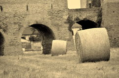 Montagnana medeltida stad Fotografering för Bildbyråer