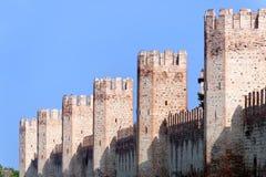 Montagnana (Padoue, Vénétie, Italie) - murs image libre de droits