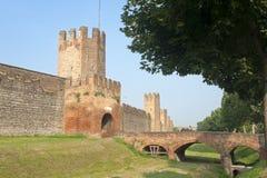 Montagnana (Padova, italy) - Medieval walls Stock Photography
