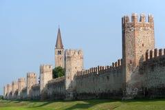 Montagnana (Véneto, italy) - paredes medievais Imagens de Stock