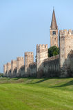 Montagnana (Veneto, italy) - Medieval walls Stock Photo