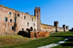 Montagnana - walled city. Montagnana is a beautiful old medieval walled city in north Italy Stock Photography