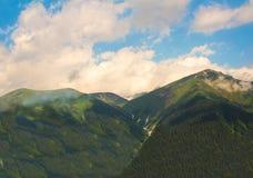 Montagne à tordre la brume inférieure de gorge Image libre de droits