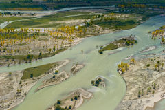 Montagne aérienne du Thibet Image libre de droits