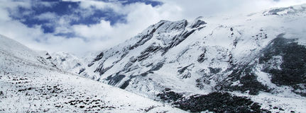 Montagne Aba China de neige Images libres de droits