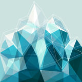 Montagne abstraite de bleu de la géométrie Photographie stock libre de droits