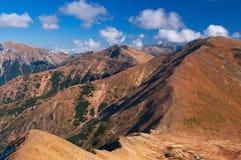 Montagne ad ovest di Tatra Fotografia Stock Libera da Diritti