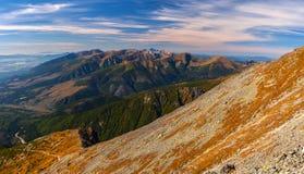 Montagne ad ovest di Tatra Fotografia Stock