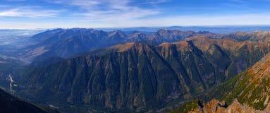 Montagne ad ovest di Tatra Immagini Stock Libere da Diritti